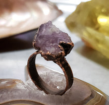 Load image into Gallery viewer, Raw Amethyst Ring