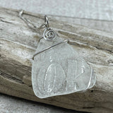 Clear Sea Glass Coke Bottle Necklace