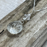 Quartz Crystal Scallop Shell Necklace