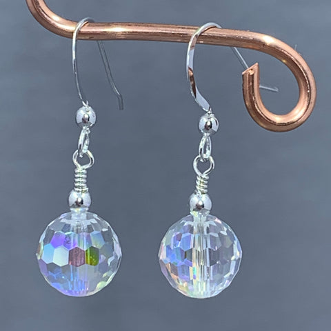 Swarovski Crystal Disco Ball Sparkle Earrings