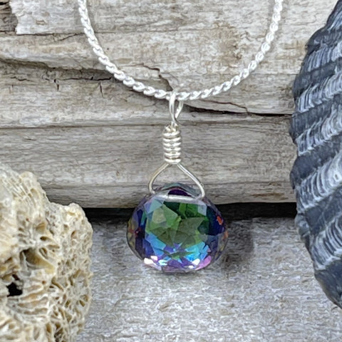 Mystic Topaz Petite Drop Necklace