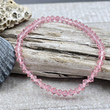 Light Pink Crystal Stacker Stretch Bracelet