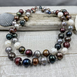 Large Multicolored Fresh Water Pearl Opera Necklace