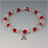 Squamous Cell Carcinoma Cancer Awareness Bracelet - Swarovski Crystal