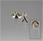 Sterling Silver Awareness Ribbon Pin/Tie Tack