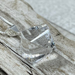Quartz Crystal Lantern Cut Briolette Necklace