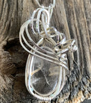 Clear Cape May Diamond Wire Wrapped Pendant