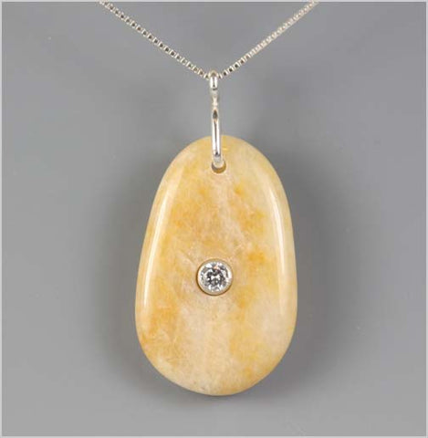 Cape May Point Stone with Cubic Zirconia Necklace