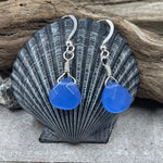 Royal Blue Jade Briolette Earrings