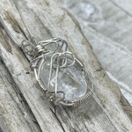 Cape May Diamond Sterling Silver Wire Wrapped Necklace