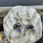 Amethyst and Pearl Earrings