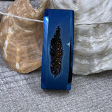 Stunning Colbalt Blue Drusy Bar Necklace