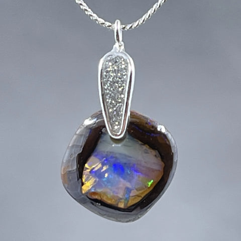 Yowah Nut Boulder Opal Necklace