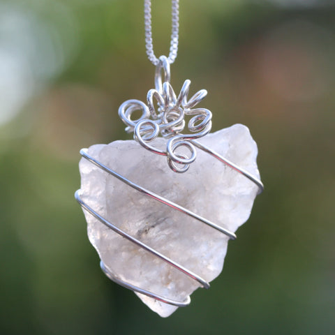 "Cape May Quartz ""In The Rough"" Necklace"