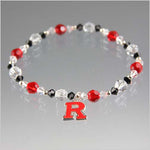 Rutgers University Black and Red Swarovski Crystal Bracelet - RED