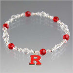 Rutgers University Bracelet - Swarovski Crystal - Red