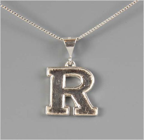 Rutgers Block R Pendant Necklace