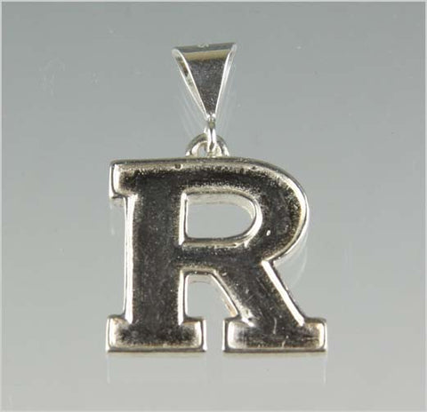 Rutgers Block R Pendant - Sterling Silver