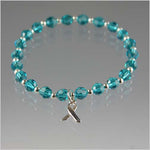 Ovarian Cancer Awareness Swarovski Crystal Bracelet