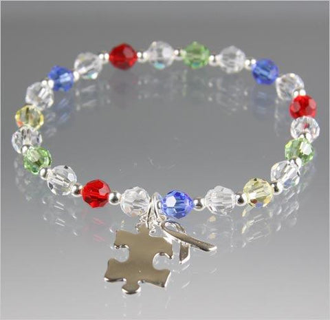 Autism Awareness Bracelet - Swarovski Crystal