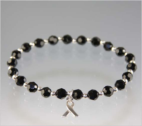 Melanoma Awareness Bracelet - Swarovski Crystal