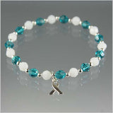 Cervical Cancer Awareness Bracelet - Swarovski Crystal