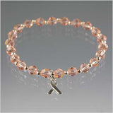 Uterine Cancer Awareness Bracelet - Swarovski Crystal