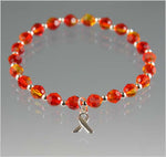 Leukemia Awareness Bracelet - Swarovski Crystal