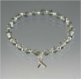 Brain Cancer Awareness Swarovski Crystal Bracelet