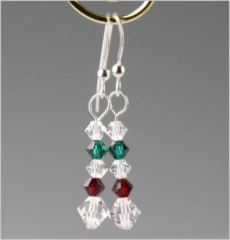 Holiday Swarovski Crystal Earrings