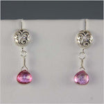 Pink Mystic Topaz Briolette Earrings