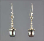 Peacock Water-drop Pearl Earrings - AA Quality
