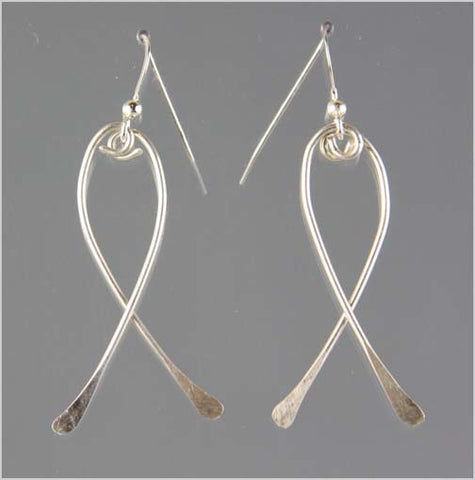 Sterling Silver Awareness Ribbon Earrings