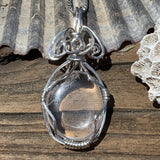 Cape May Diamond Sterling Silver Wire-Wrapped Pendant