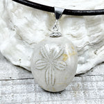 Fossilized Sand Dollar Pendant