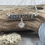 Cape May Anchor & Shell Sterling Silver Necklace