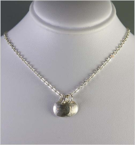 Dainty Sterling Silver Circle Necklace