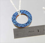 Cobalt Drusy Circle Necklace