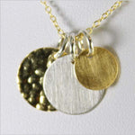 Gold and Silver Circle Necklace