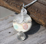 Tranquil Ocean Matte Lamp-work Bead Necklace
