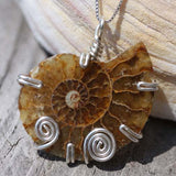 Ammonite Sterling Silver Necklace