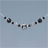 Onyx and Black Glass Lampwork Bead Necklace