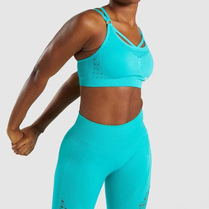 Cross Fit! Mesh Criss Cross Crop Top & Leggings