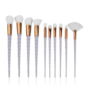 Brush It Up! 10pcs Unicorn Makeup Brush Set