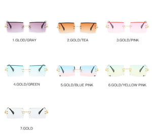 Things Are Lookin Up! Rectangular Sunglaases