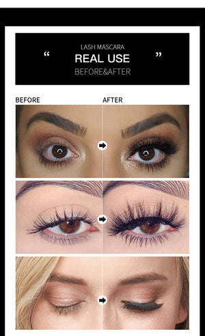 Longer than Life! Black 4D silk fiber waterproof mascara