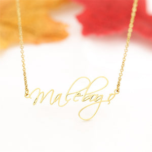 Say My Name:  Custom Name Necklace Personalized Jewelry