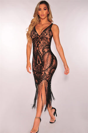 Bandage Bodycon Lace Crochet Cover Up Dress