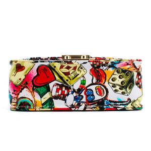 Take A Gamble! Printed Chain Handbag