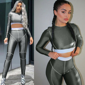 Sexy Storm 2Pcs Gym Vest Bra Bustier + Smooth Leggings